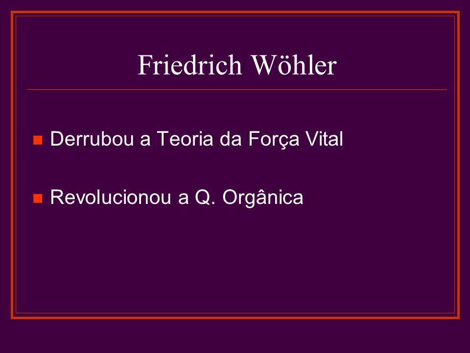 Síntese de Wöhler Em 1828 Friedrich,discípulo de Berzelius.