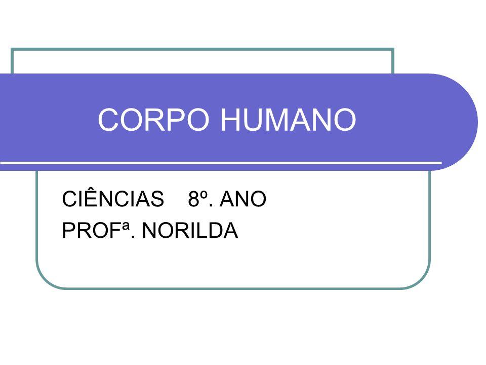 CORPO HUMANO CIÊNCIAS 8º. ANO PROFª. NORILDA
