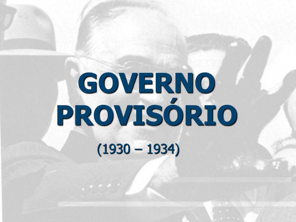 Governo Provisório (1930 – 34) Fechamento do Congresso Nacional Fechamento do Congresso Nacional Nomeação de Interventores Estaduais Nomeação de Interventores Estaduais Leis Trabalhistas; Leis Trabalhistas;