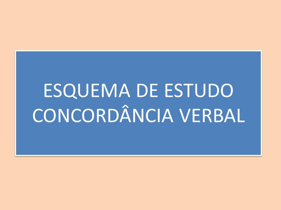 ESQUEMA DE ESTUDO CONCORDÂNCIA VERBAL ESQUEMA DE ESTUDO CONCORDÂNCIA VERBAL