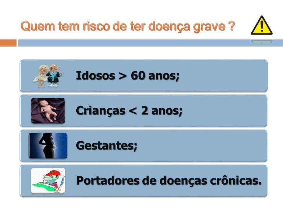 www.hub.unb.br Idosos > 60 anos; Crianças < 2 anos; Gestantes; Portadores de doenças crônicas.