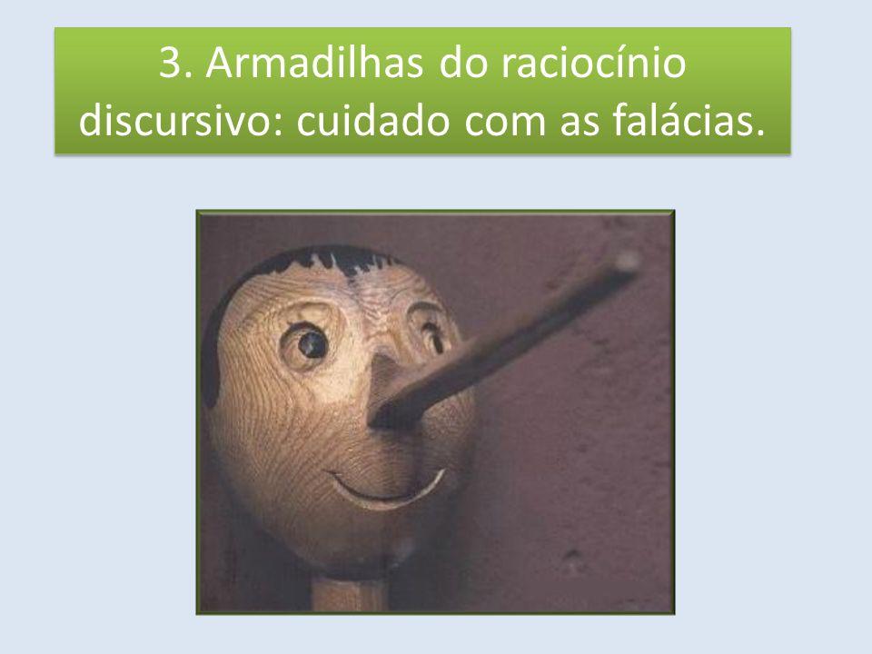 3. Armadilhas do raciocínio discursivo: cuidado com as falácias.