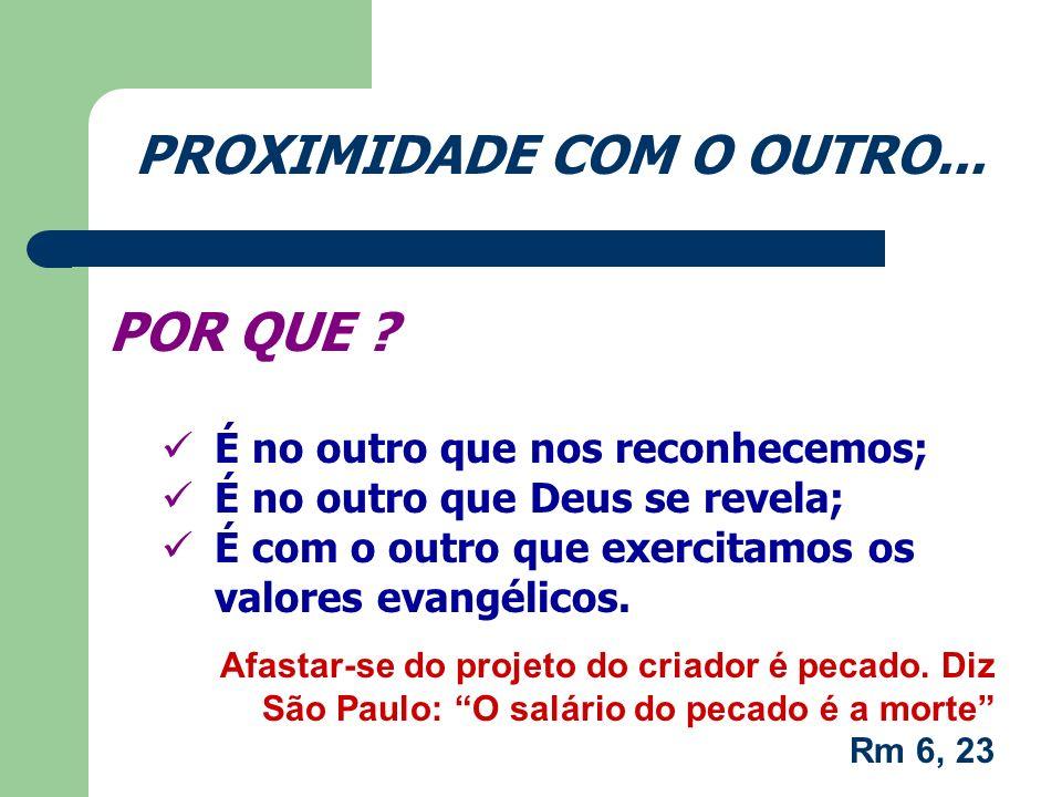 PROXIMIDADE COM O OUTRO...COMO .