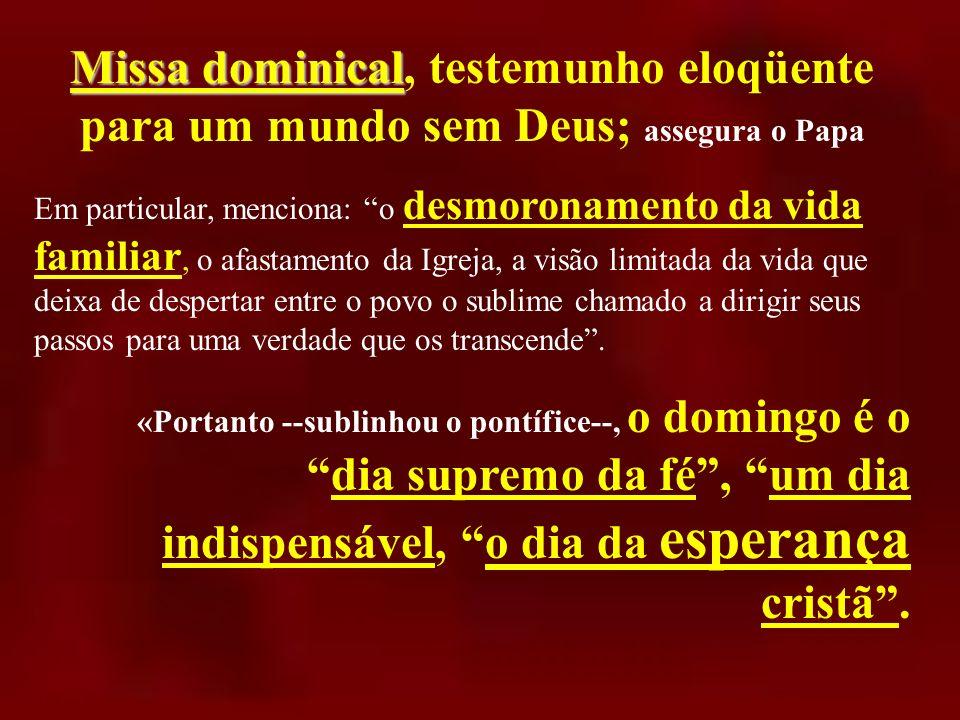 importância da Eucaristia...fisou a importância da Eucaristia.