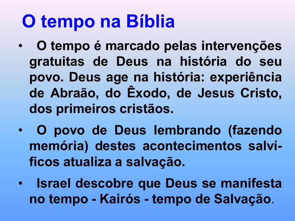 O tempo no cristianismo É marcado por fatos significativos de intervenção do Senhor na história.