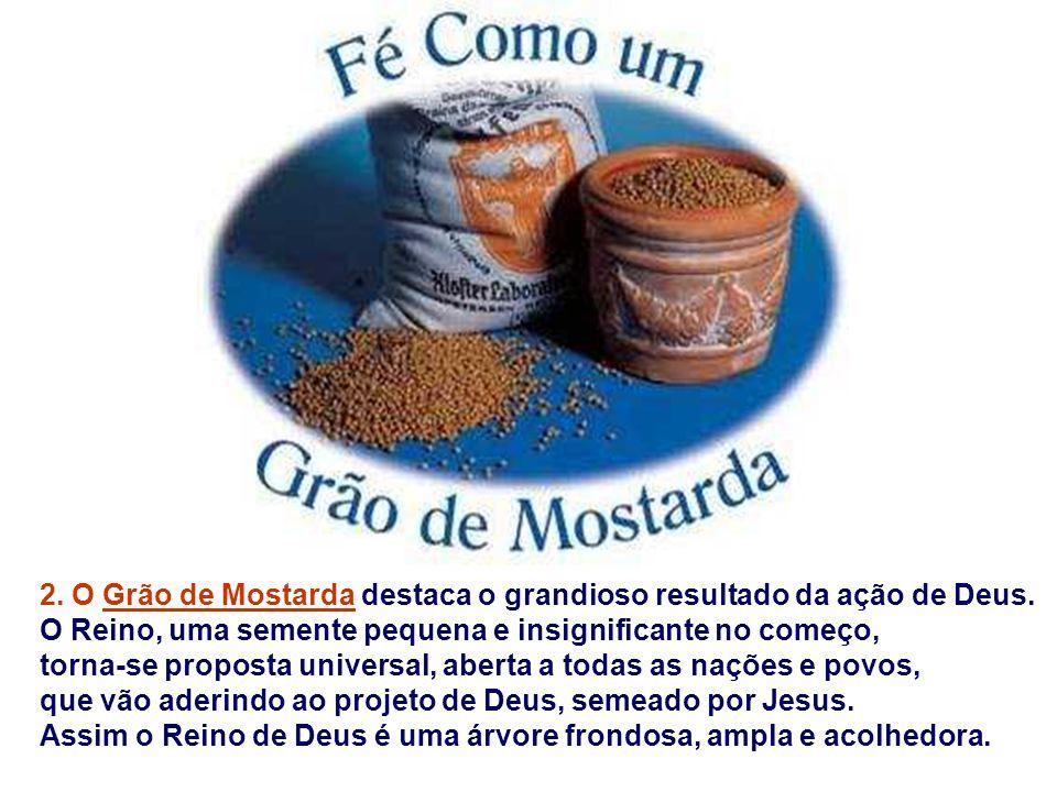 1. A Parábola da Semente fixa o ritmo de crescimento do Reino de Deus: o processo é lento. O colono semeia e aguarda com paciência. A semente vai germ