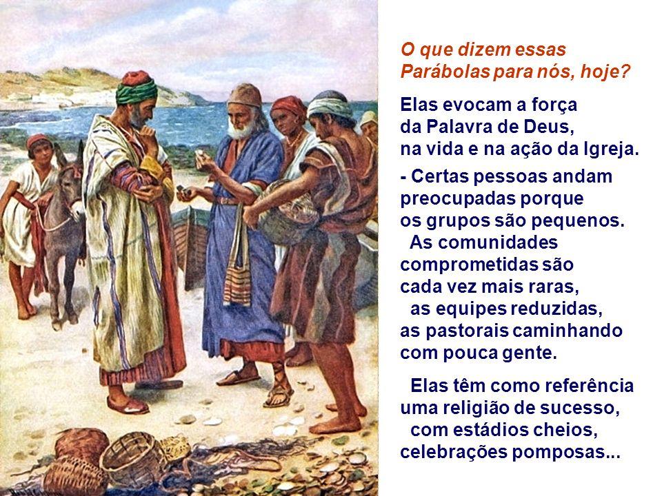 2. O Grão de Mostarda destaca o grandioso resultado da ação de Deus. O Reino, uma semente pequena e insignificante no começo, torna-se proposta univer