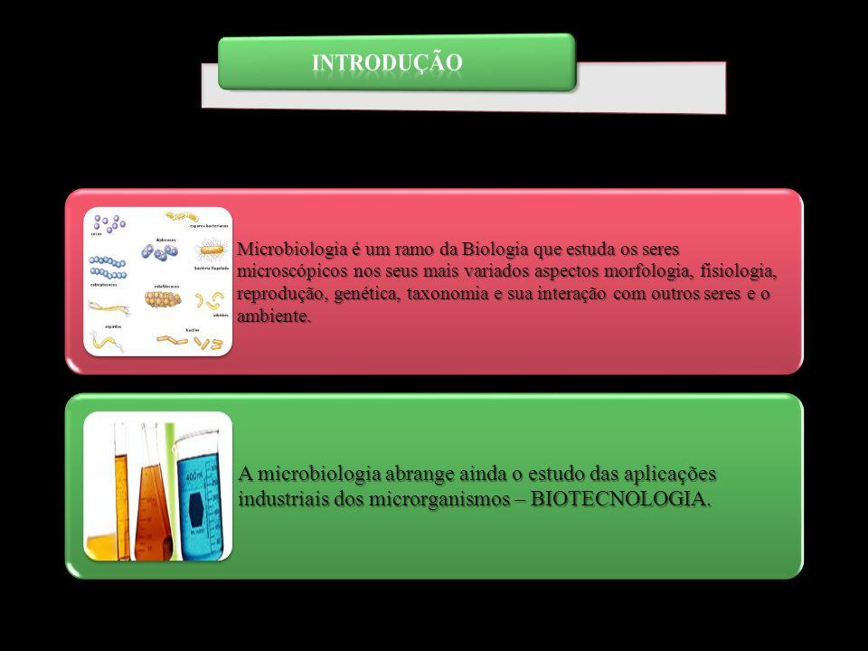 Microbiologia é um ramo da Biologia que estuda os seres microscópicos nos seus mais variados aspectos morfologia, fisiologia, reprodução, genética, ta