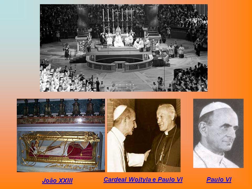 João XXIII Cardeal Wojtyla e Paulo VIPaulo VI