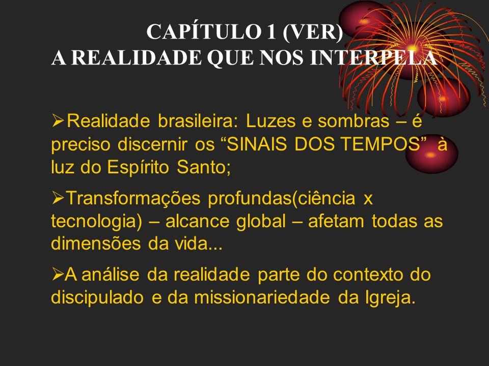 CAPÍTULO 1 (VER) A REALIDADE QUE NOS INTERPELA Realidade brasileira: Luzes e sombras – é preciso discernir os SINAIS DOS TEMPOS à luz do Espírito Sant