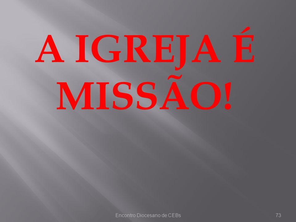 Encontro Diocesano de CEBs73 A IGREJA É MISSÃO!