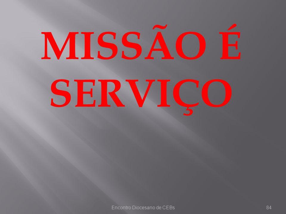 Encontro Diocesano de CEBs84 MISSÃO É SERVIÇO