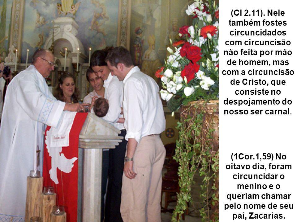 (Cl 2.11). Nele também fostes circuncidados com circuncisão não feita por mão de homem, mas com a circuncisão de Cristo, que consiste no despojamento