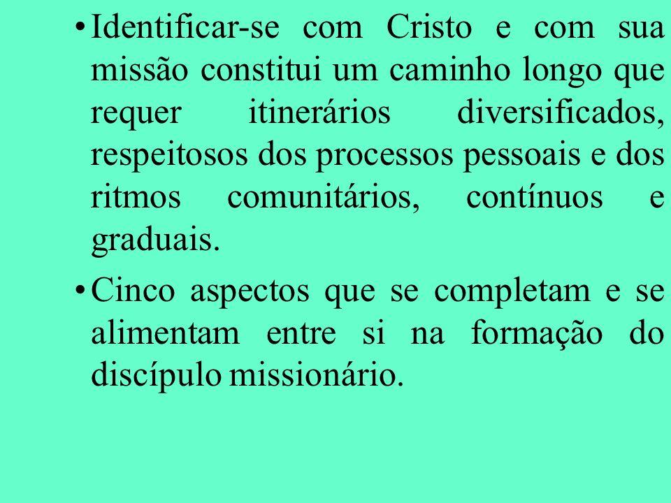 Identificar-se com Cristo e com sua missão constitui um caminho longo que requer itinerários diversificados, respeitosos dos processos pessoais e dos
