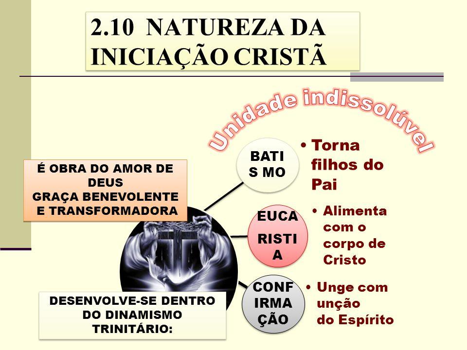 BATI S MO Torna filhos do Pai EUCA RISTI A Alimenta com o corpo de Cristo CONF IRMA ÇÃO Unge com unção do Espírito É OBRA DO AMOR DE DEUS GRAÇA BENEVO