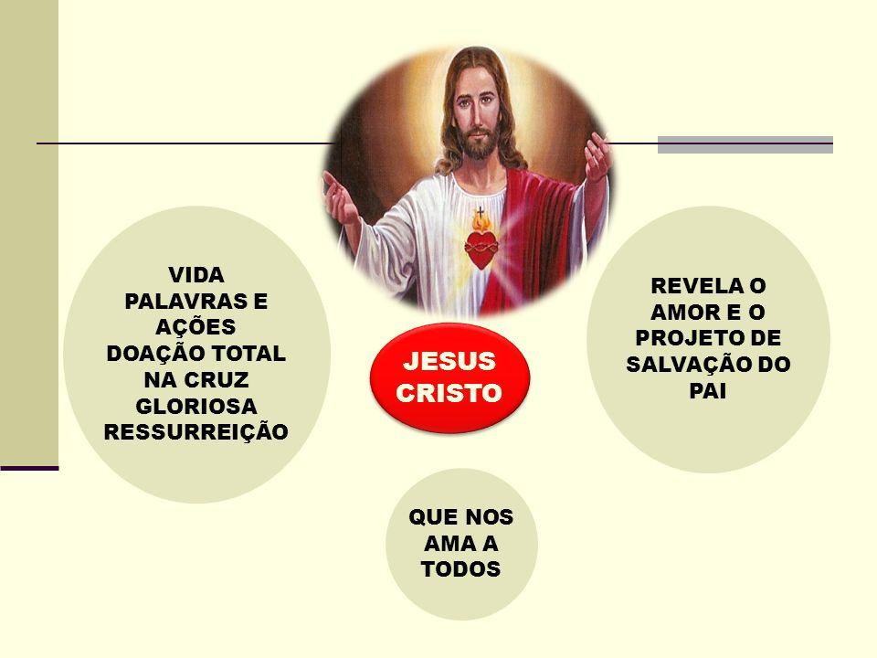 JESUS CRISTO VIDA PALAVRAS E AÇÕES DOAÇÃO TOTAL NA CRUZ GLORIOSA RESSURREIÇÃO REVELA O AMOR E O PROJETO DE SALVAÇÃO DO PAI QUE NOS AMA A TODOS