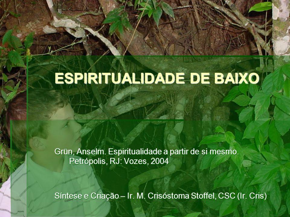 ESPIRITUALIDADE DE BAIXO Grün, Anselm. Espiritualidade a partir de si mesmo.