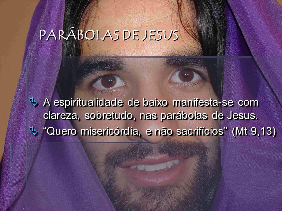 PARÁBOLAS DE JESUS A espiritualidade de baixo manifesta-se com clareza, sobretudo, nas parábolas de Jesus.