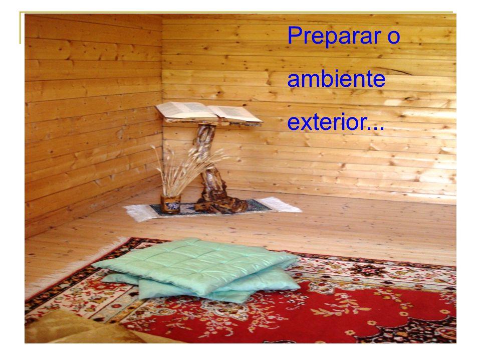 Preparar o ambiente exterior...