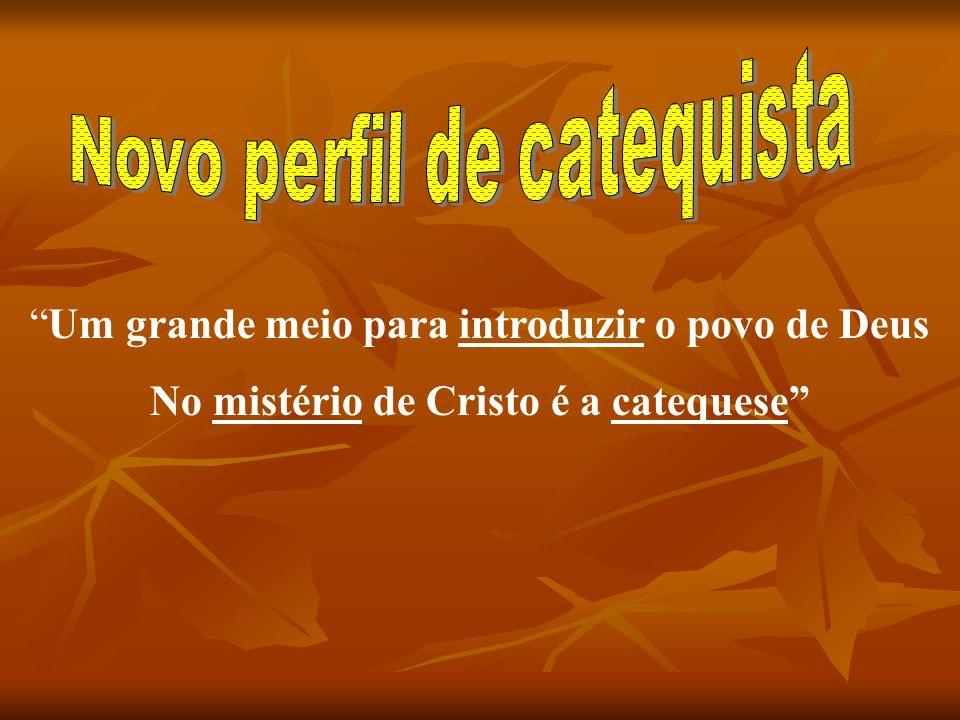 Um grande meio para introduzir o povo de Deus No mistério de Cristo é a catequese