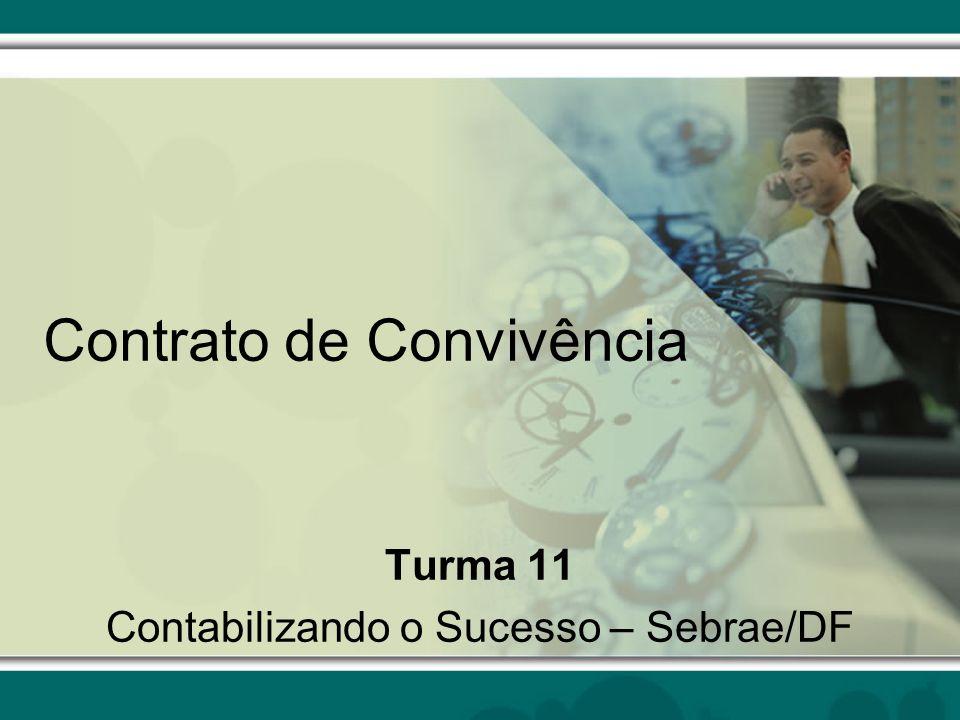 Contrato de Convivência Turma 11 Contabilizando o Sucesso – Sebrae/DF