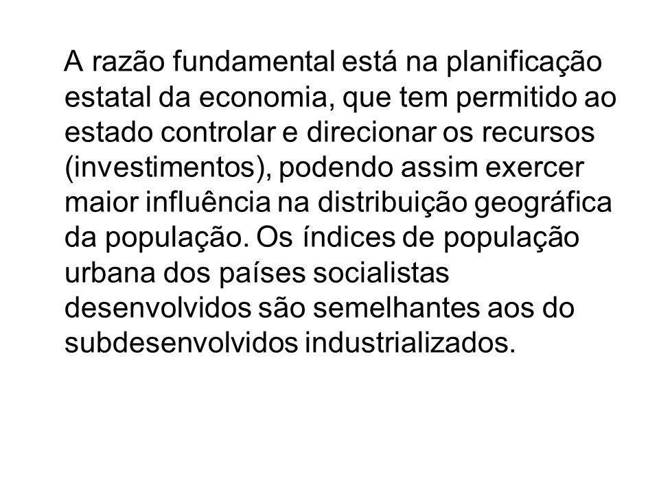 A razão fundamental está na planificação estatal da economia, que tem permitido ao estado controlar e direcionar os recursos (investimentos), podendo