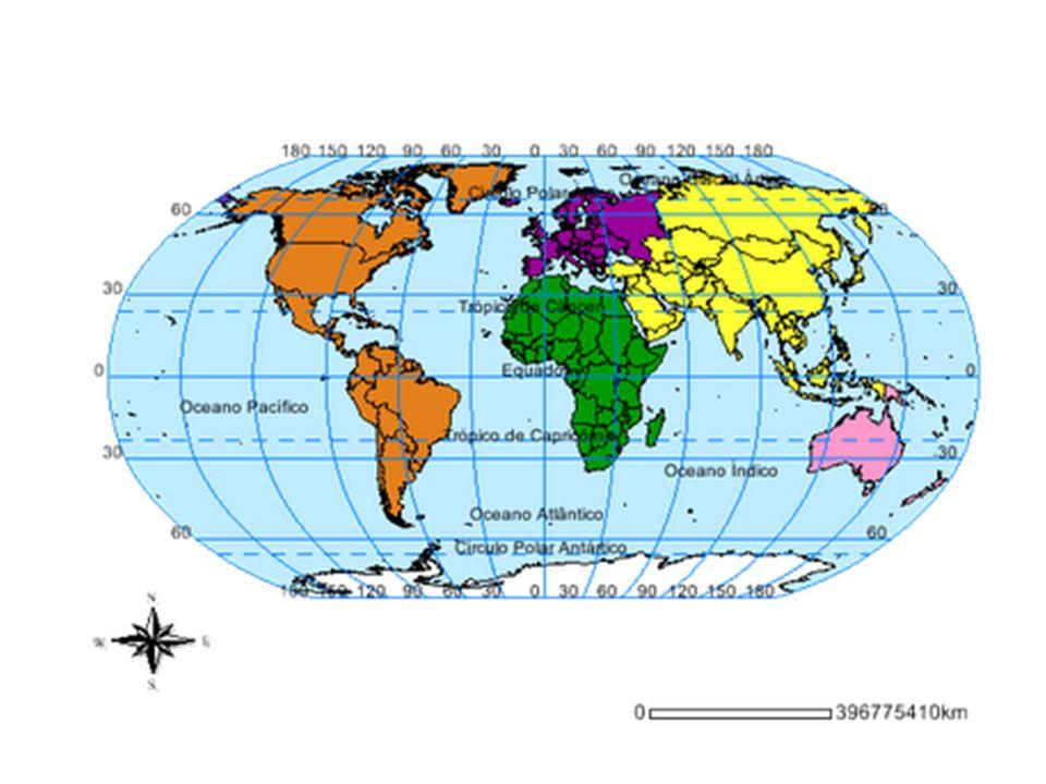 Essa divisão por continentes segue um critério natural muito primário: grandes porções de terra e grandes porções de água, os Oceanos.