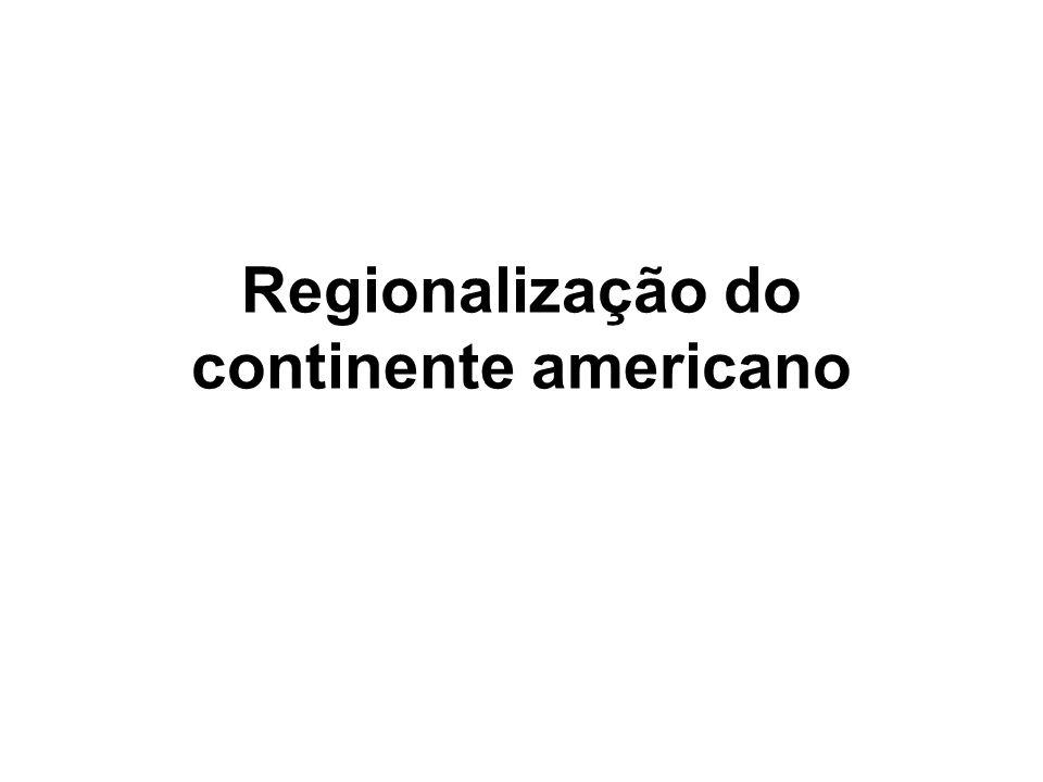 Regionalização do continente americano
