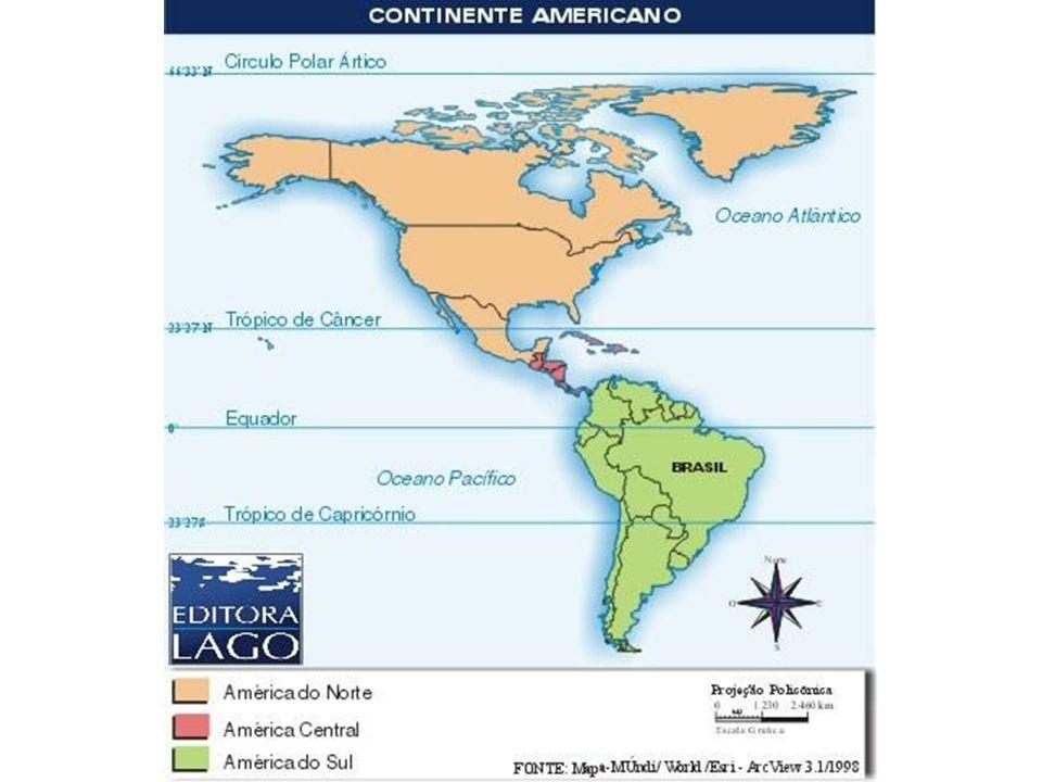 Assim de acordo com os aspectos humanos e econômicos ou Histórico- Culturais onde vamos ter duas Américas: