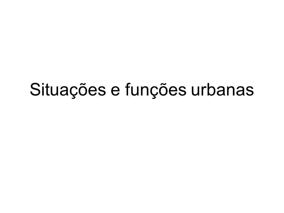 Situações e funções urbanas