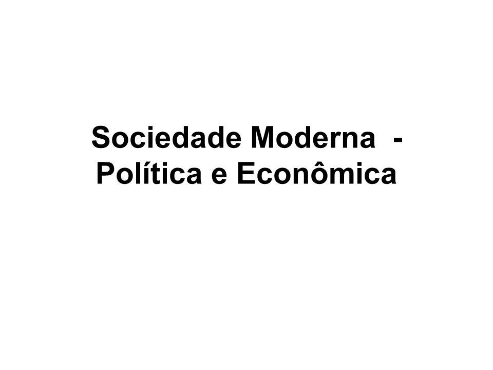 Sociedade Moderna - Política e Econômica