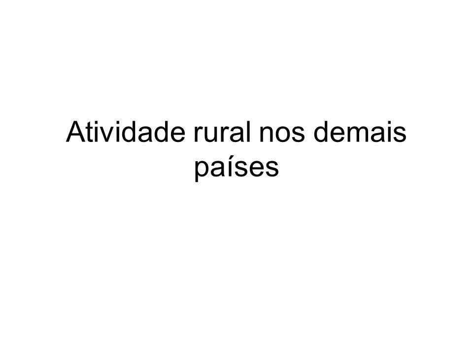 Atividade rural nos demais países