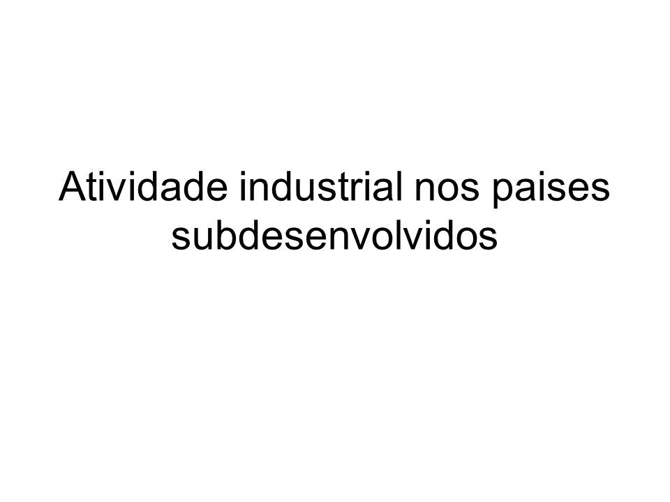 Atividade industrial nos paises subdesenvolvidos