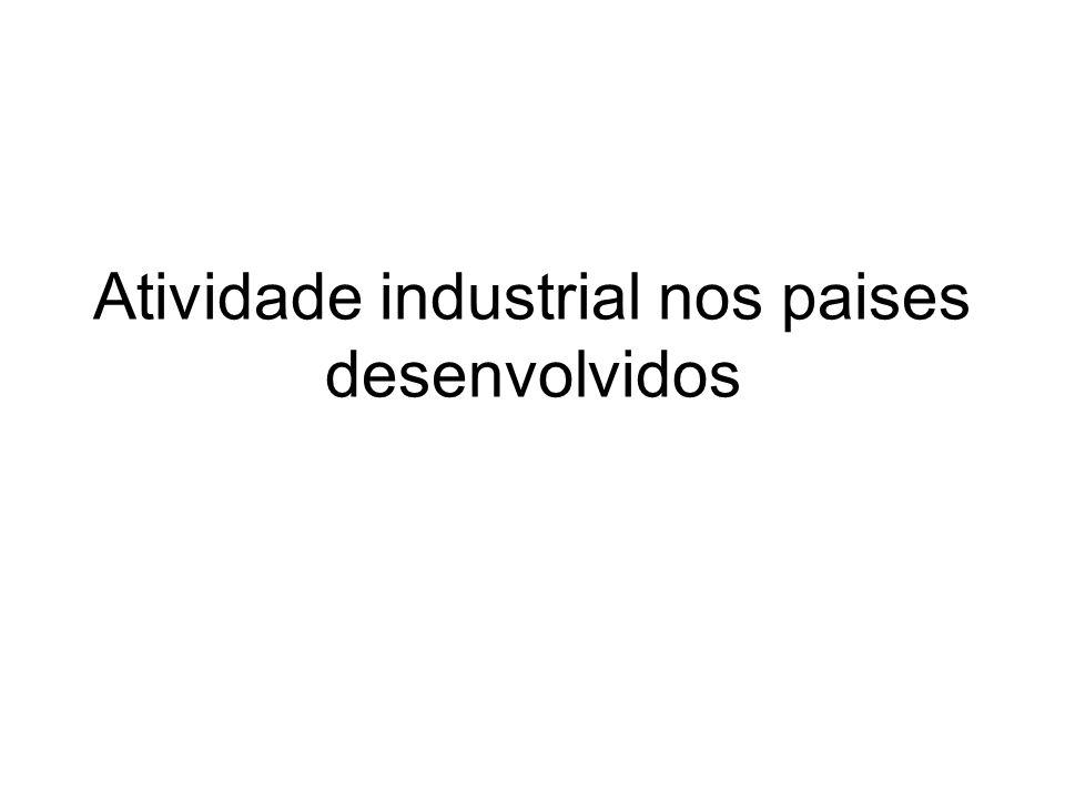 Atividade industrial nos paises desenvolvidos