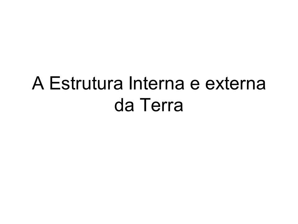A Estrutura Interna e externa da Terra