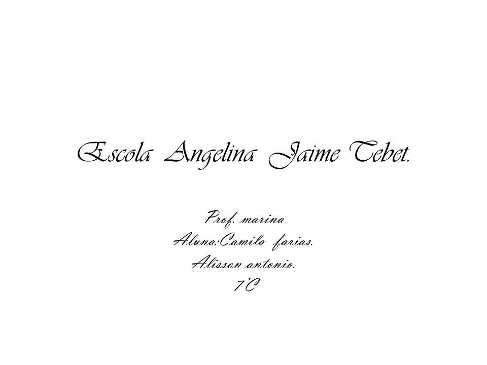 Escola Angelina Jaime Tebet. Prof. marina Aluna:Camila farias. Alisson antonio. 7C