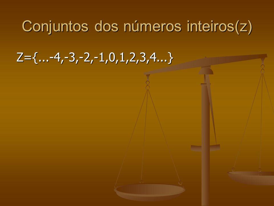 Conjuntos dos números racionais(Q) Q={-2, 5/4, -13/5,1, 0,3/2...} Q={-2, 5/4, -13/5,1, 0,3/2...}