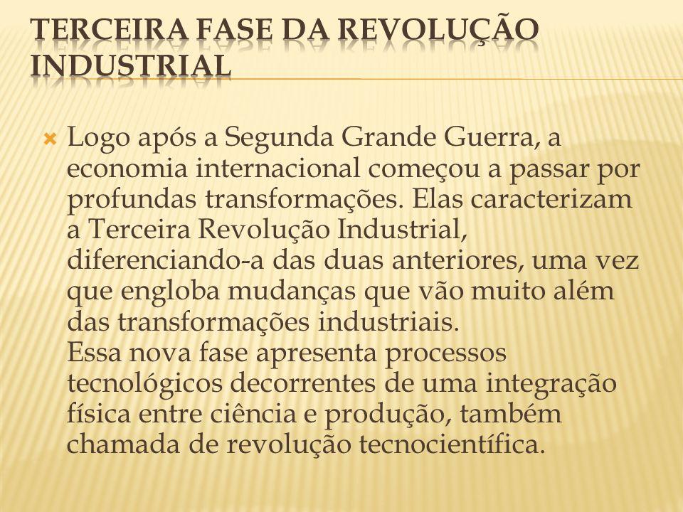 Logo após a Segunda Grande Guerra, a economia internacional começou a passar por profundas transformações.