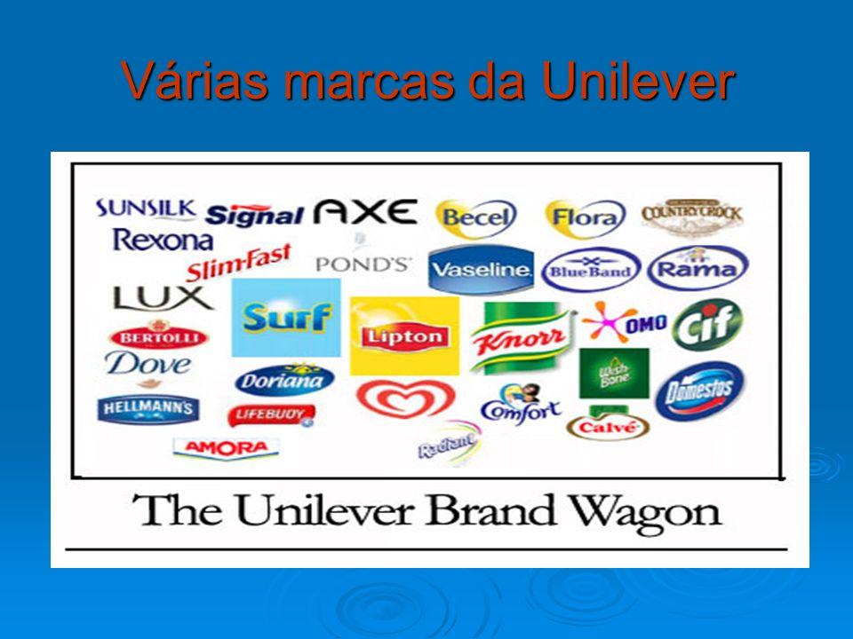 Várias marcas da Unilever
