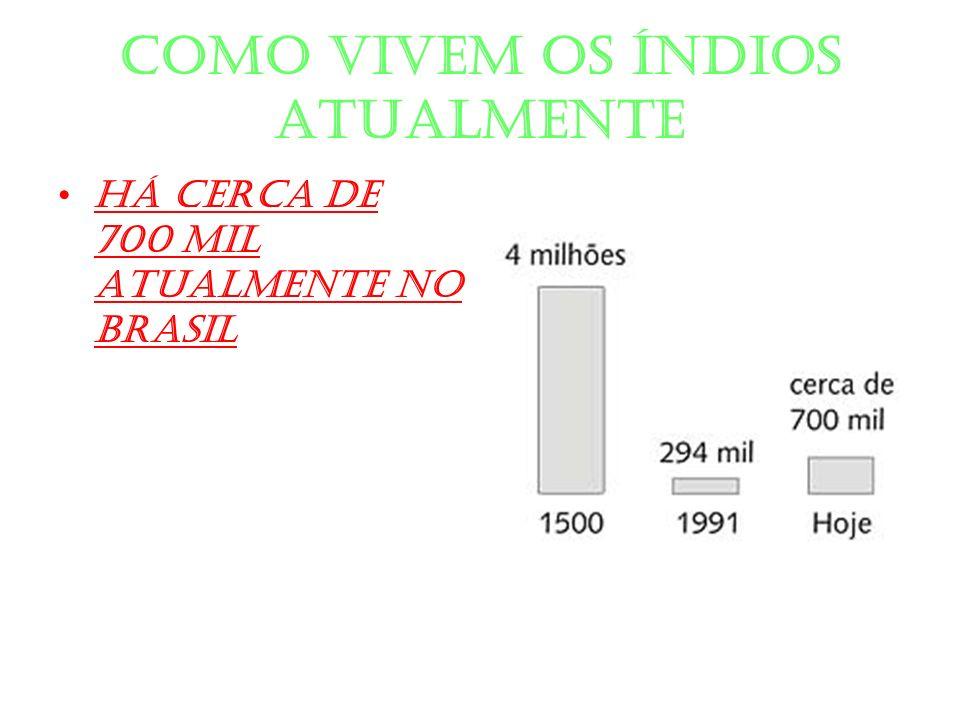 Como vivem os índios atualmente Há cerca de 700 mil atualmente no Brasil