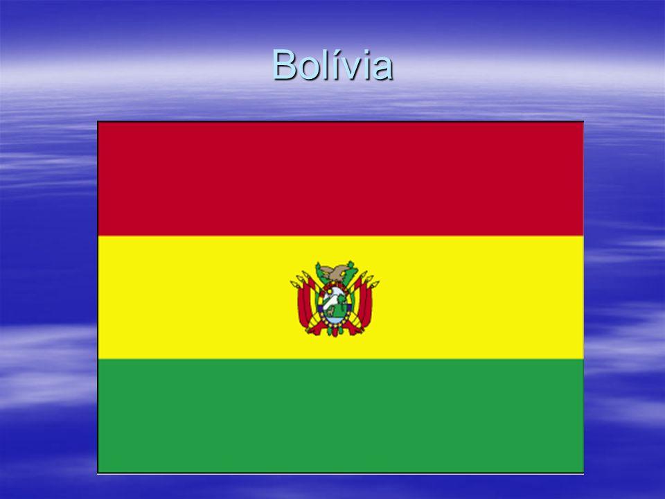 Dados sobre a Bolívia Área: 1.098.581 km² Capital: Lá Paz (capital administrativa, sede do governo) e Sucre (constitucional, judicial) População: 10,9 milhões (estimativa 2010) Moeda: boliviano Nome Oficial: República da Bolívia Nacionalidade: boliviana Data Nacional: 6 de agosto Dia da Independência.