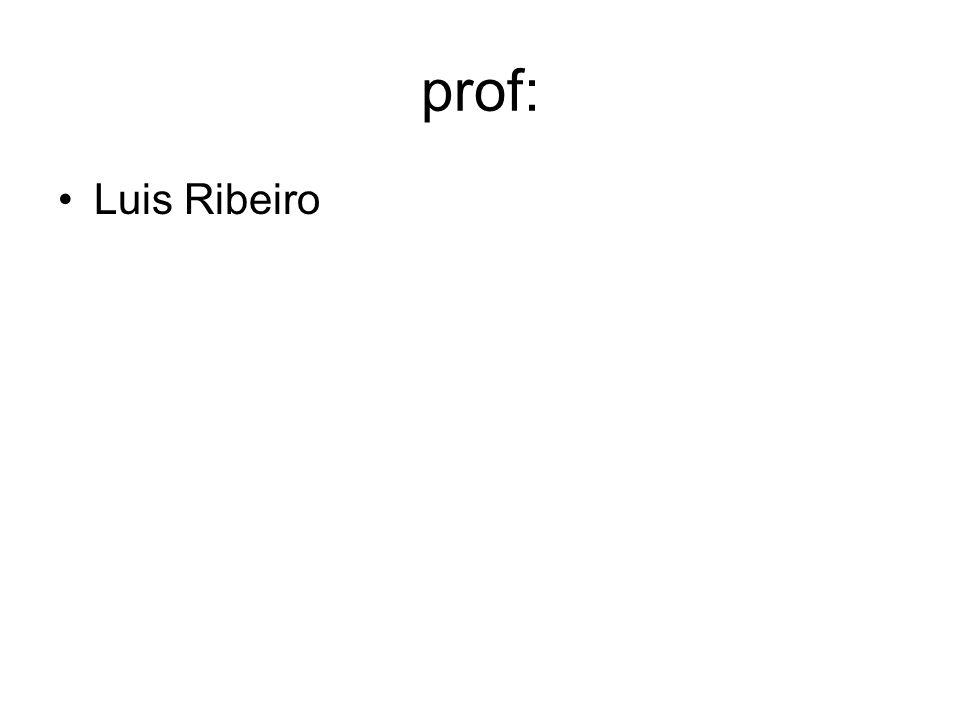 prof: Luis Ribeiro