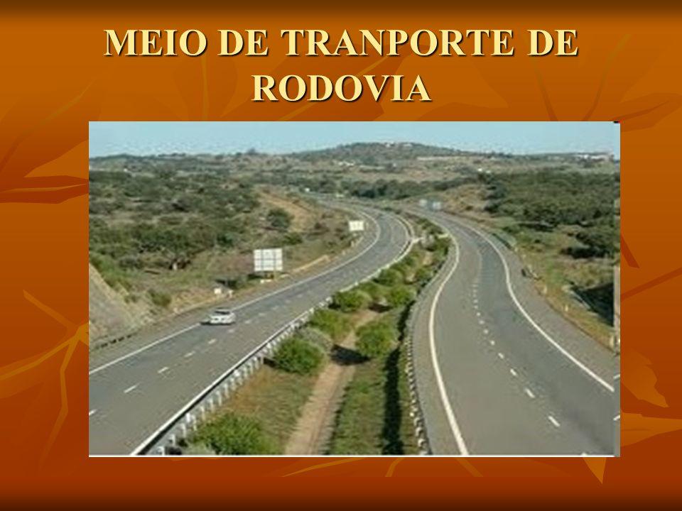 MEIO DE TRANPORTE DE RODOVIA