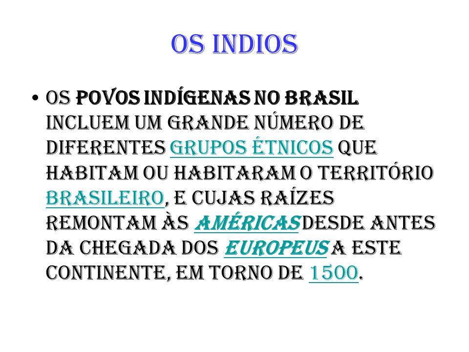 Os povos indígenas no Brasil incluem um grande número de diferentes grupos étnicos que habitam ou habitaram o território brasileiro, e cujas raízes re