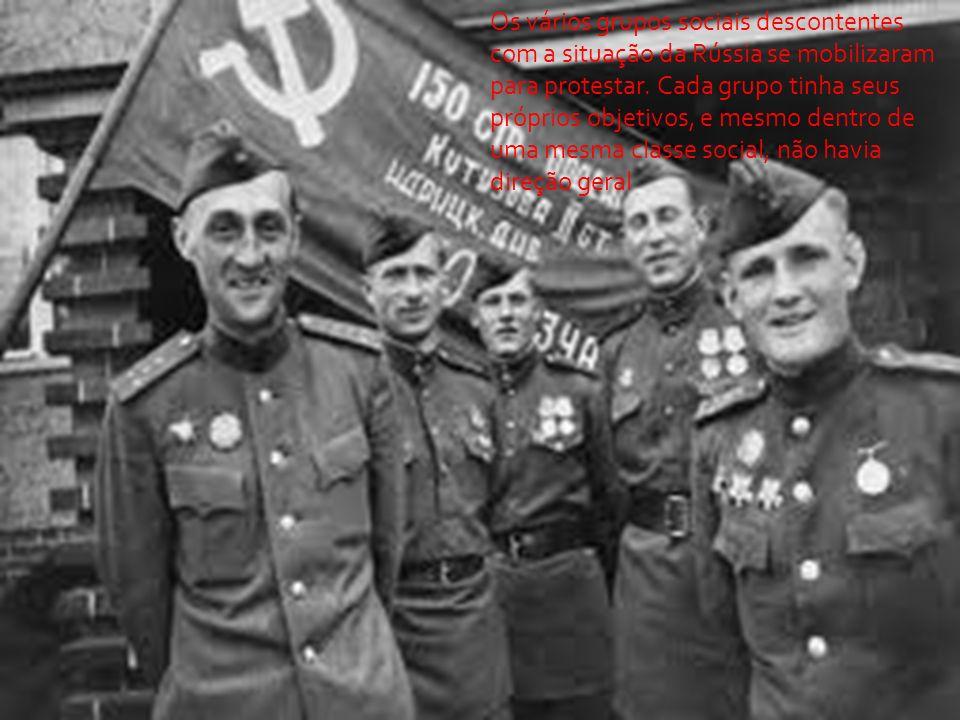 Os vários grupos sociais descontentes com a situação da Rússia se mobilizaram para protestar.