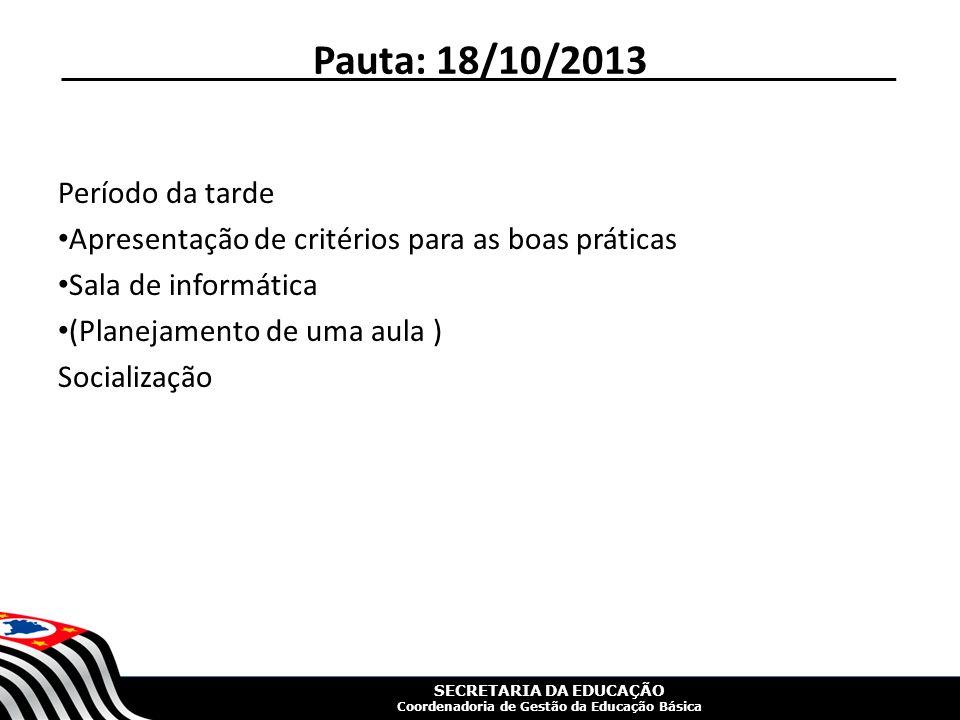 SECRETARIA DA EDUCAÇÃO Coordenadoria de Gestão da Educação Básica Palestra Apresentação da Palestra: Luiz Carlos de Menezes