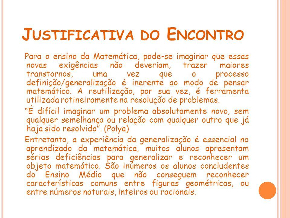 O BJETIVO DO E NCONTRO Sugestão de atividades visando a integração do aluno com a trigonometria.