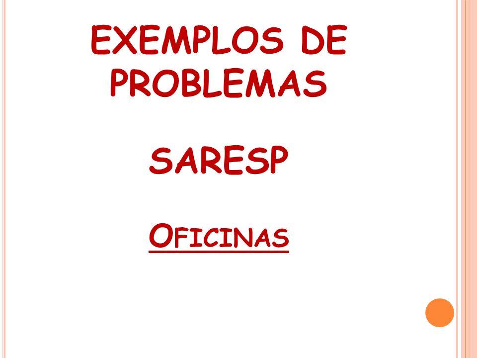 EXEMPLOS DE PROBLEMAS SARESP O FICINAS