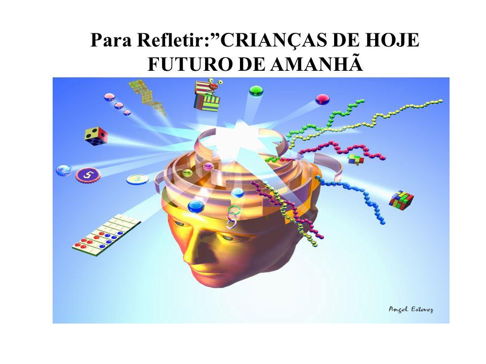 Para Refletir:CRIANÇAS DE HOJE FUTURO DE AMANHÃ