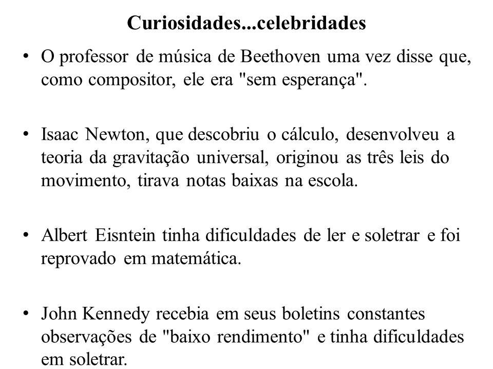 Curiosidades...celebridades O professor de música de Beethoven uma vez disse que, como compositor, ele era
